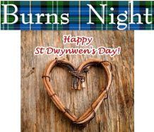 Burns Night and St Dwynwen's Day